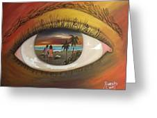 In His Eyes  Greeting Card