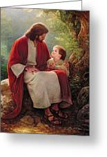 In His Light Greeting Card by Greg Olsen