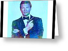 In Memory Of Roger Moore Greeting Card