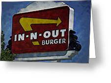 In-n-out Greeting Card by Ricky Barnard