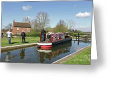 In Papercourt Lock On The Wey Navigations Greeting Card