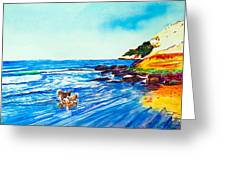 In Paradise Of Dogs Greeting Card