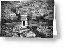 In Paris Bw Greeting Card