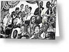 In Praise Of Jazz IIi Greeting Card