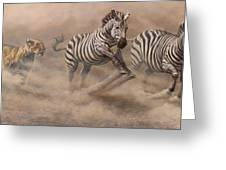 In Pursuit Greeting Card by Alan M Hunt