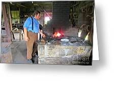 In The Blacksmith Shop Greeting Card