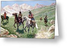 In The Cheyenne Country Greeting Card