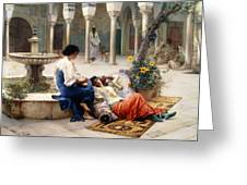 In The Courtyard Of The Harem Greeting Card