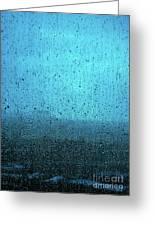 In The Dark Blue Rain Greeting Card