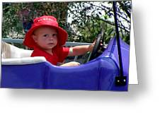 In The Driver's Seat Greeting Card