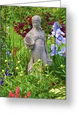 In The Flower Garden Greeting Card