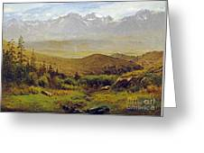 In The Foothills Of The Rockies Greeting Card