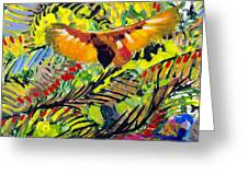 Birds In The Forest Greeting Card