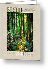 In The Forest With Words Greeting Card