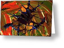 In The Forward Mind Abstract Greeting Card