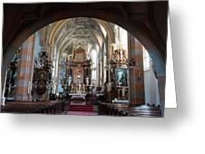 In The Gothic-baroque Church Greeting Card