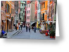 In The Heart Of Town Greeting Card