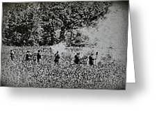 In The Heat Of Battle - Gettysburg Pa Greeting Card