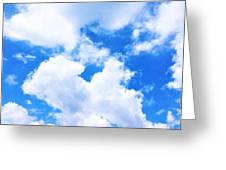 In The Heavens Above Greeting Card