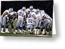 In The Huddle Greeting Card by Carrie OBrien Sibley