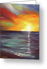 In The Moment - Vertical Sunset Greeting Card