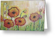 Poppies At Dusk Greeting Card
