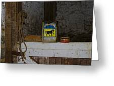 In The Old Horse Barn Greeting Card