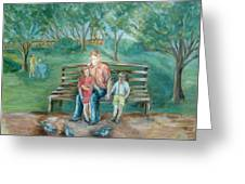 In  The Park 2 Greeting Card