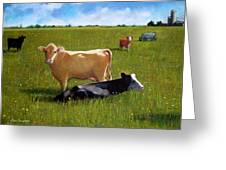 In The Pasture Greeting Card