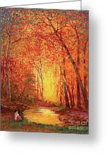 In The Presence Of Light Meditation Greeting Card