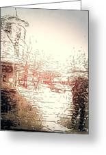 In The Rain Greeting Card
