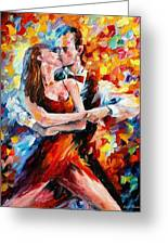 In The Rhythm Of Tango 2 - Palette Knife Oil Painting On Canvas By Leonid Afremov Greeting Card
