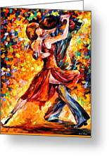 In The Rhythm Of Tango Greeting Card