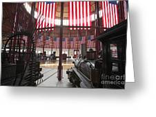 In The Roundhouse At The B And O Railroad Museum In Baltimore Greeting Card