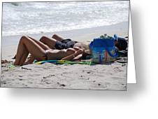 In The Sand At Paradise Beach Greeting Card