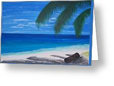 In The Shade Of A Palm Greeting Card