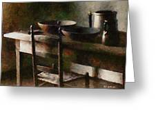 In The Shaker Kitchen Greeting Card