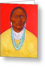 In The Time Of Crazy Horse Greeting Card by Johanna Elik