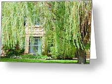 In The Weeping Willows Greeting Card