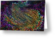 In The Whirl Of Light Greeting Card