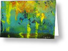 In To Abstract Greeting Card