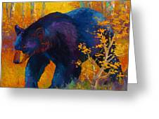 In To Spring - Black Bear Greeting Card by Marion Rose