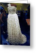 Inaugural Gown On Display Greeting Card