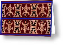 Inca Gecko Spirits Greeting Card
