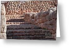 Inca Steps At Chinchero  Greeting Card