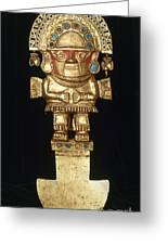 Incan Gold Ornament Greeting Card