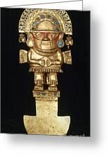 Incan Gold Ornament Greeting Card