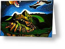Inca's Trilogy II Greeting Card