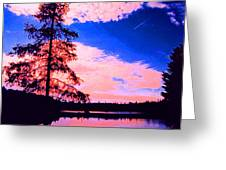 Incoming Over Algonquin Park 2 Ae Greeting Card