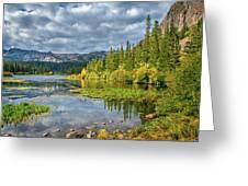 Incoming Storm At Twin Lakes Greeting Card